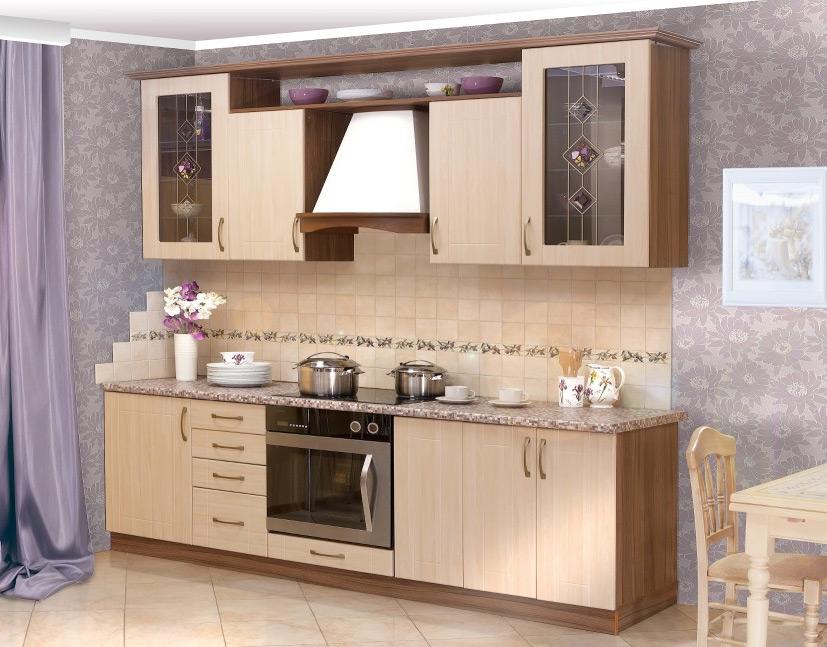 Дизайн кухни мебель светлая