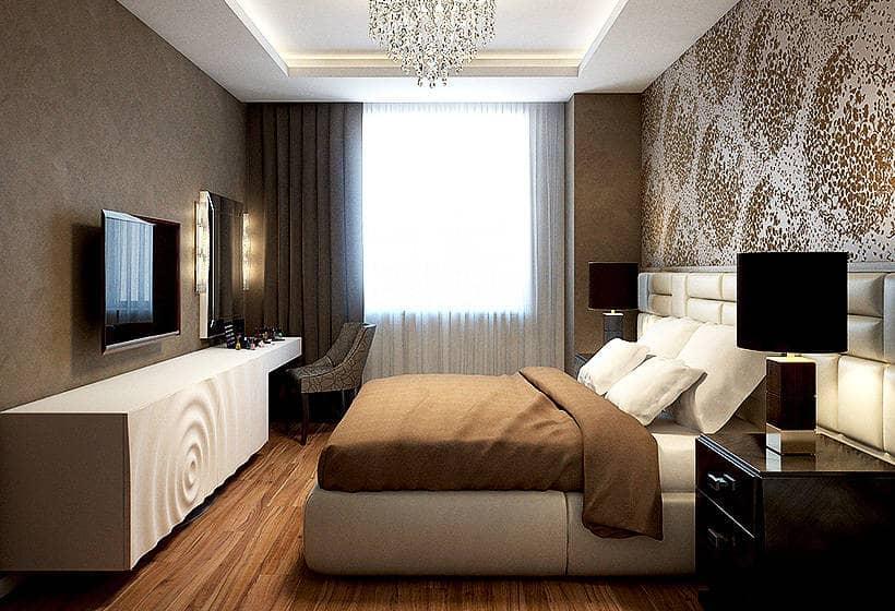Дизайн спален из гипсокартона Потолки из гипсокартона в спальню / 64 фото