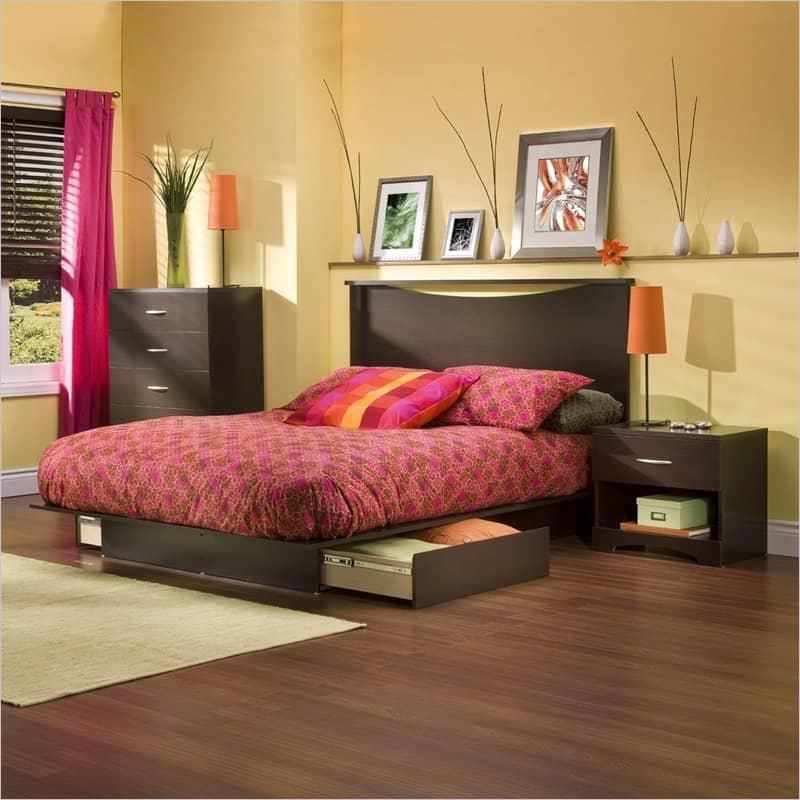 Интерьер спальни: мебель, цветовая гамма, украшения.