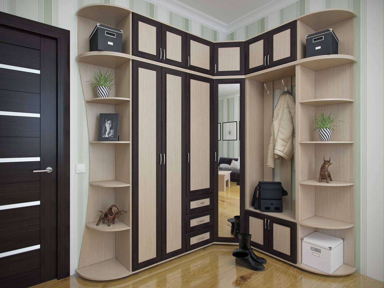 Корпусная мебель для прихожей фото
